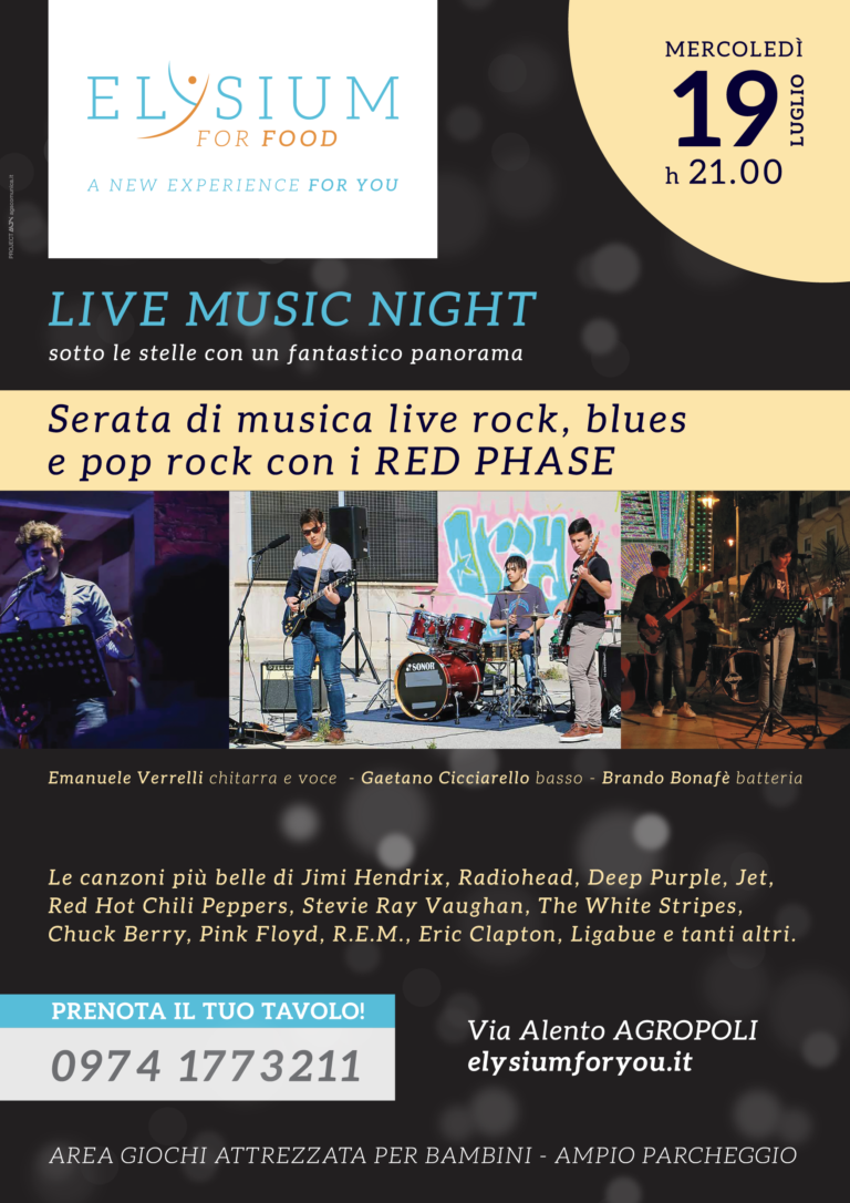 Live Rock e Blues <br> Red Phase <br> 19-07-2017