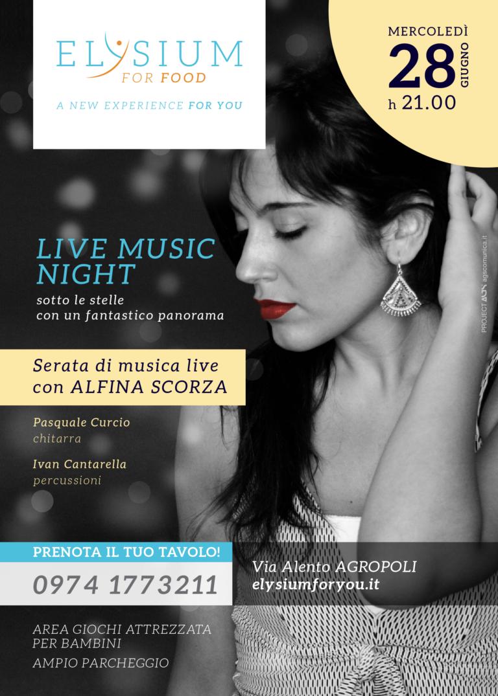 Serata Live <br> Alfina Scorza <br> 28-06-2017