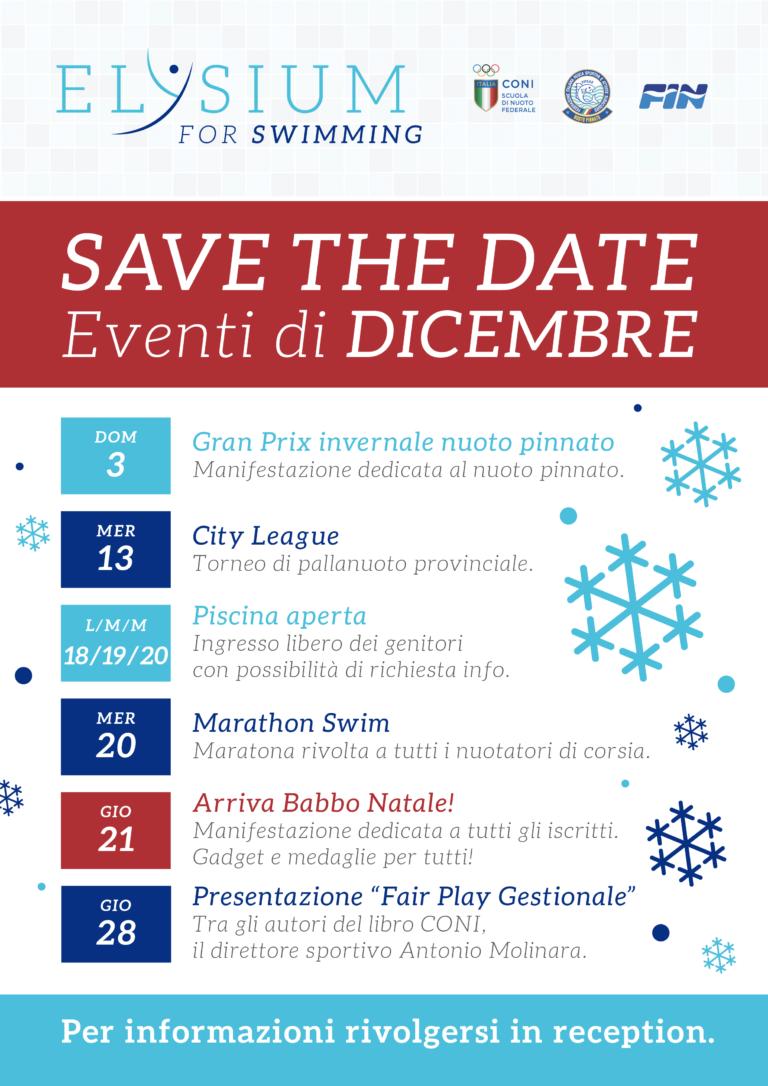 Calendario eventi <br>dicembre 2017