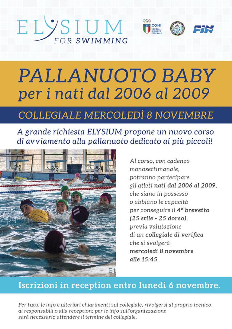 Corso di <br>Pallanuoto Baby <br>08/11/2017
