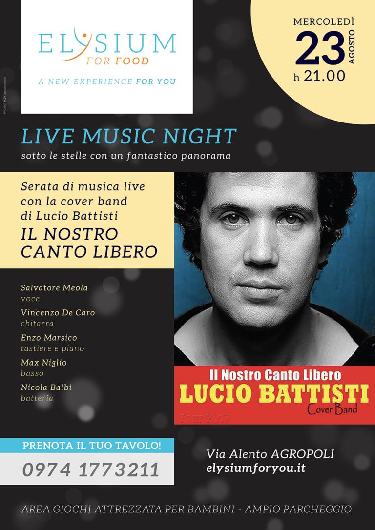 Live cover Lucio Battisti <br> Il nostro canto libero <br> 23-08-2017