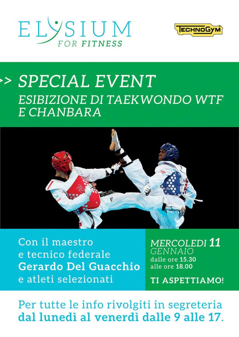 Esibizione <br> Taekwondo WTF – Chanbara <br> 11-01-2017