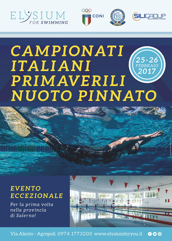 Campionati Italiani primaverili <br> Nuoto Pinnato <br> 25 e 26 febbraio  2017