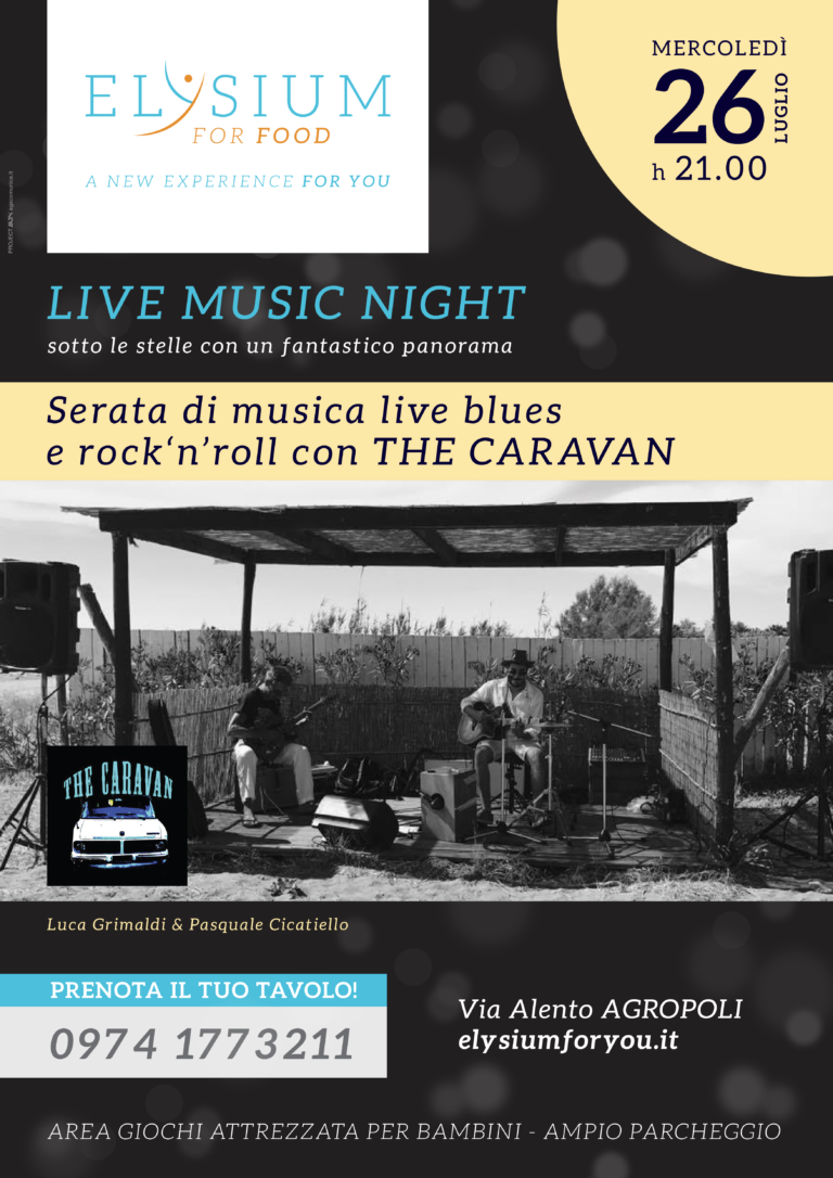 Live Blues e Rock' n' Roll <br> The Caravan <br> 26-07-2017