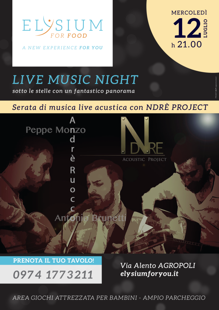 Live Acustica <br> Ndrè Project <br> 12-07-2017
