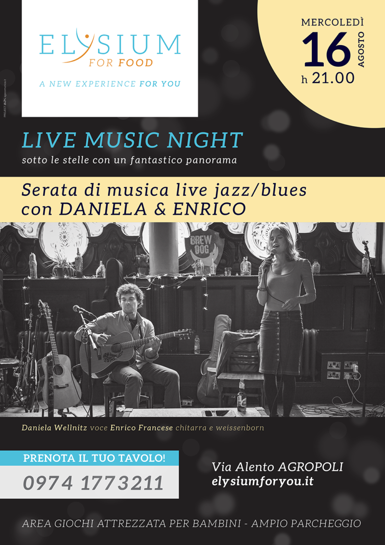 Live Jazz/Blues <br> Daniela & Enrico <br> 16-08-2017