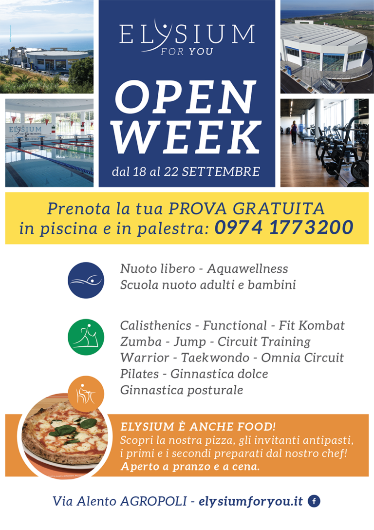 Open Week<br>dal 18 al 22/09/2017